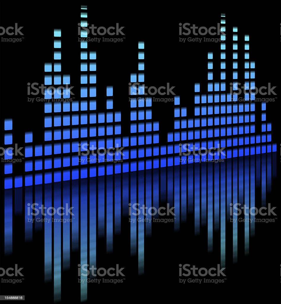 music equaliser blurred in black background - Sound Mixer royalty-free stock vector art