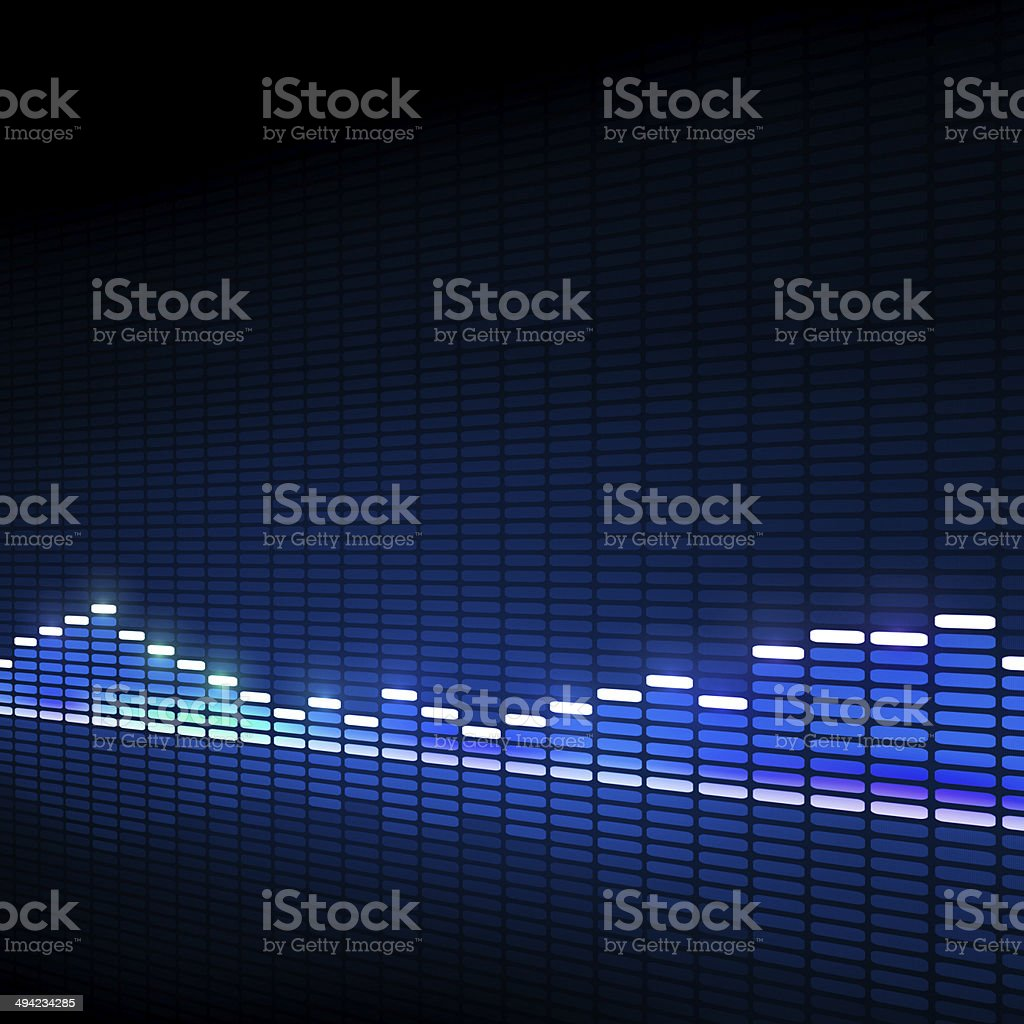 Music Equalizer Blue Background royalty-free stock vector art