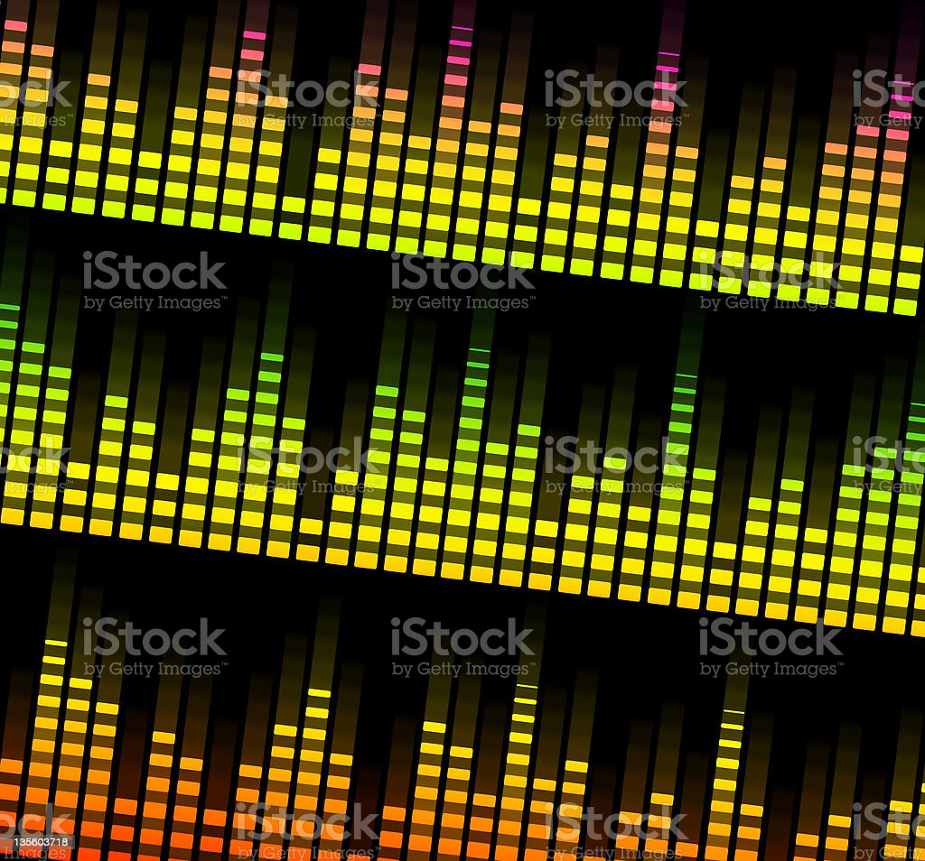 music equalizer blurred in black background royalty-free stock vector art