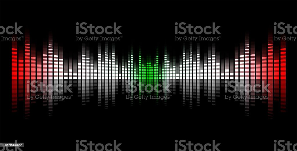 music equalizer blurred in black background, italy flag royalty-free stock vector art
