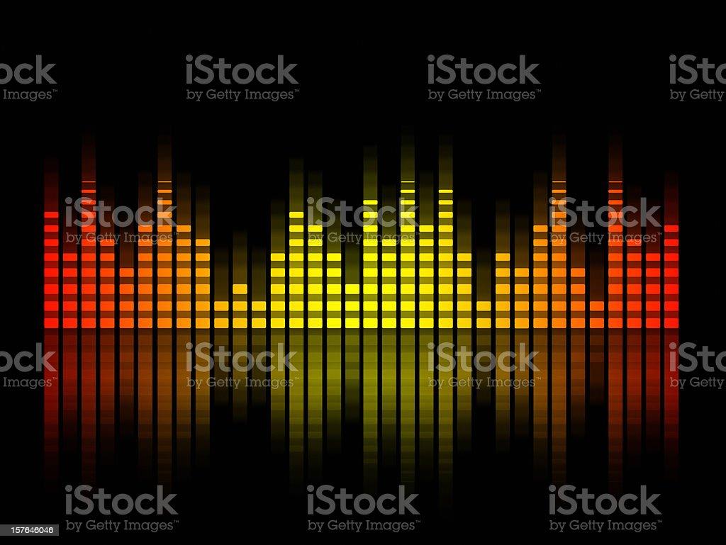 music equalizer blurred in black background, spain  flag vector art illustration