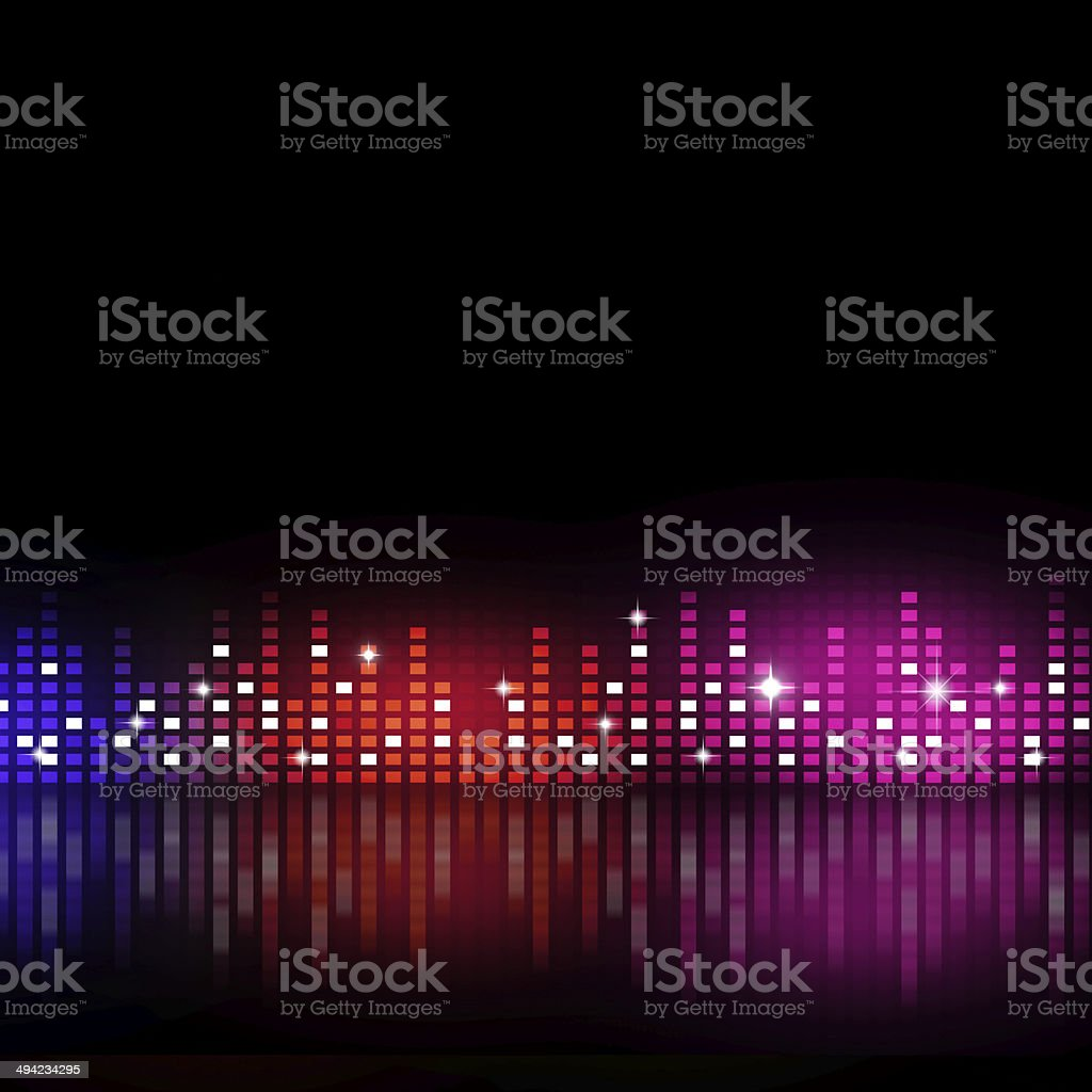 Music Equalizer vector art illustration