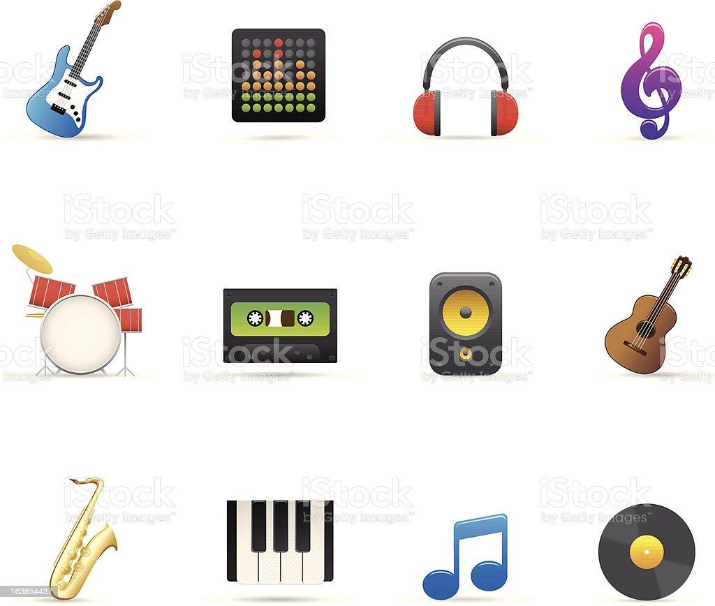 Zestaw ikon muzyki stockowa ilustracja wektorowa royalty-free