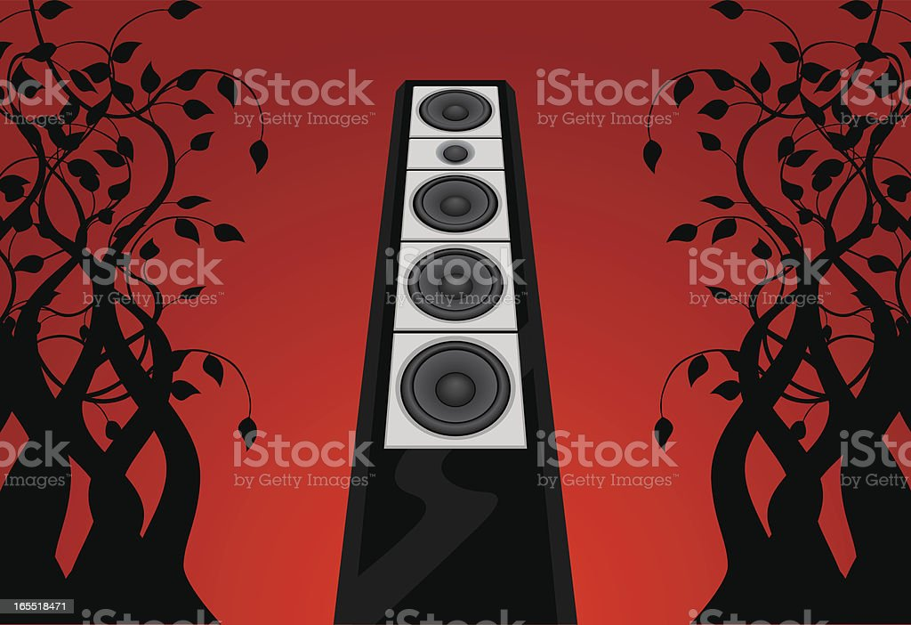 music in the jungle royalty-free stock vector art