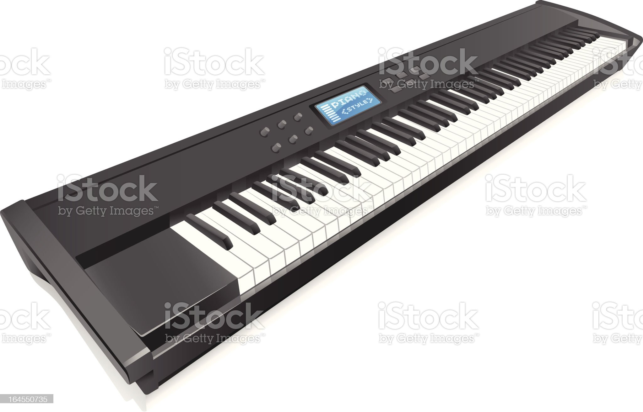 Music Keyboard royalty-free stock vector art