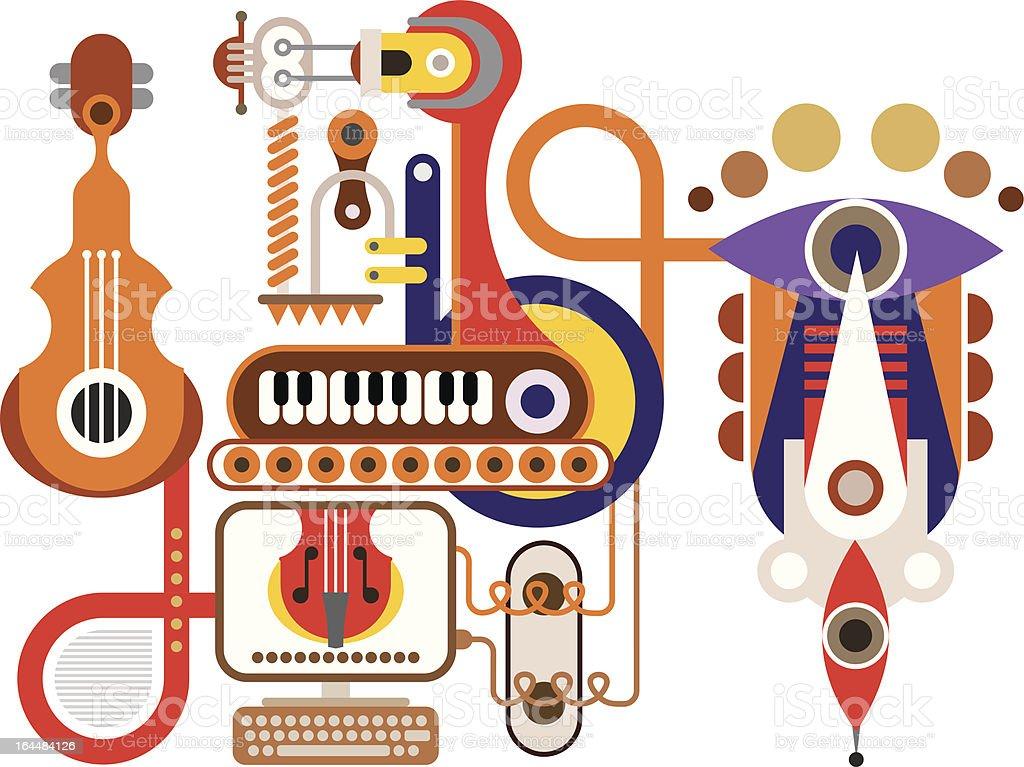 Music Machine vector art illustration
