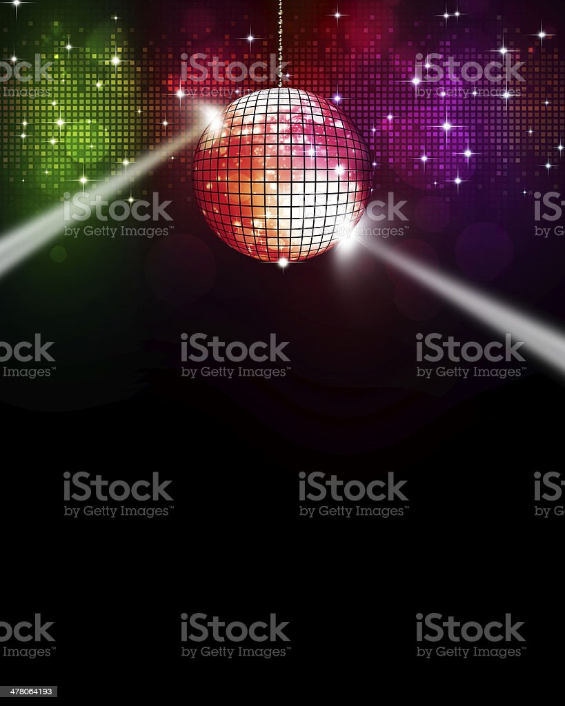 Music Multicolor Disco Background vector art illustration