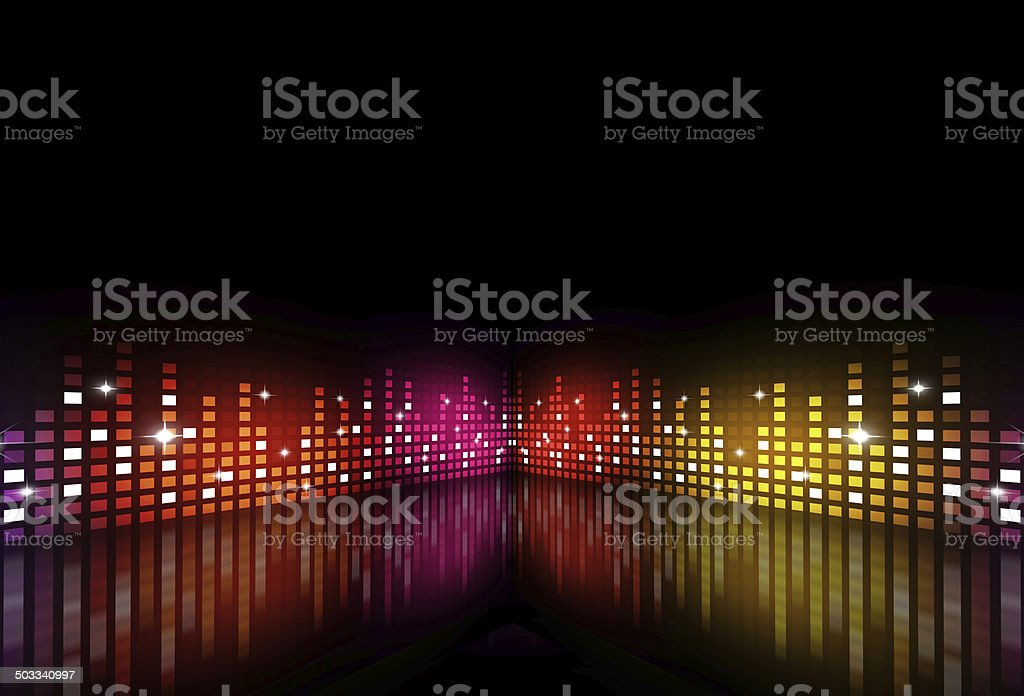 Music Multicolor Party Equalizer vector art illustration