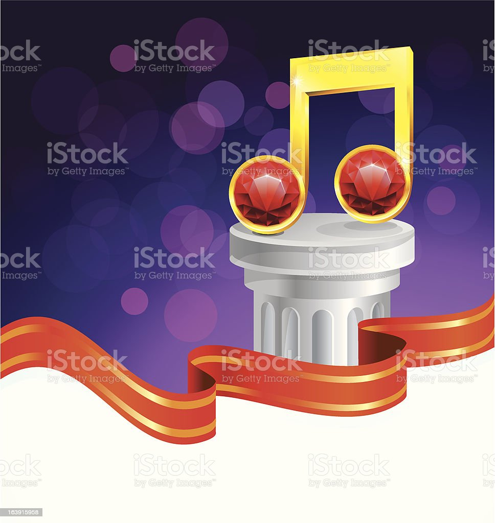 music note award royalty-free stock vector art