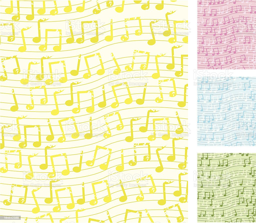 Music Note Background royalty-free stock vector art