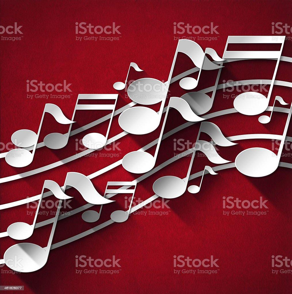 Music Note Background - Red Velvet royalty-free stock vector art