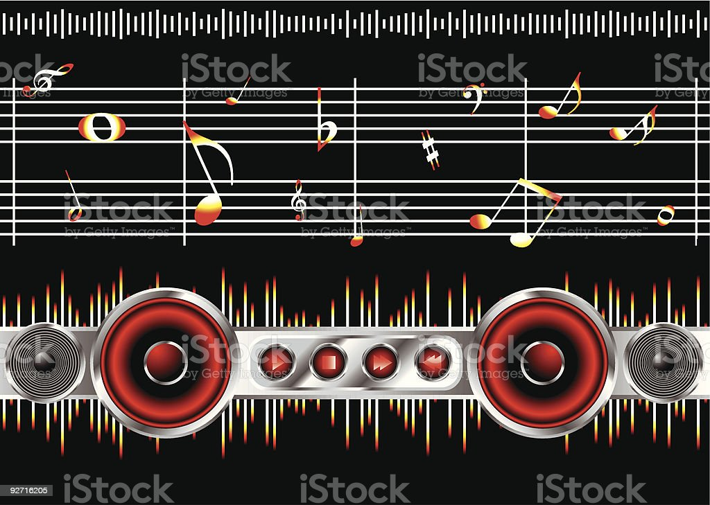 music note clean royalty-free stock vector art
