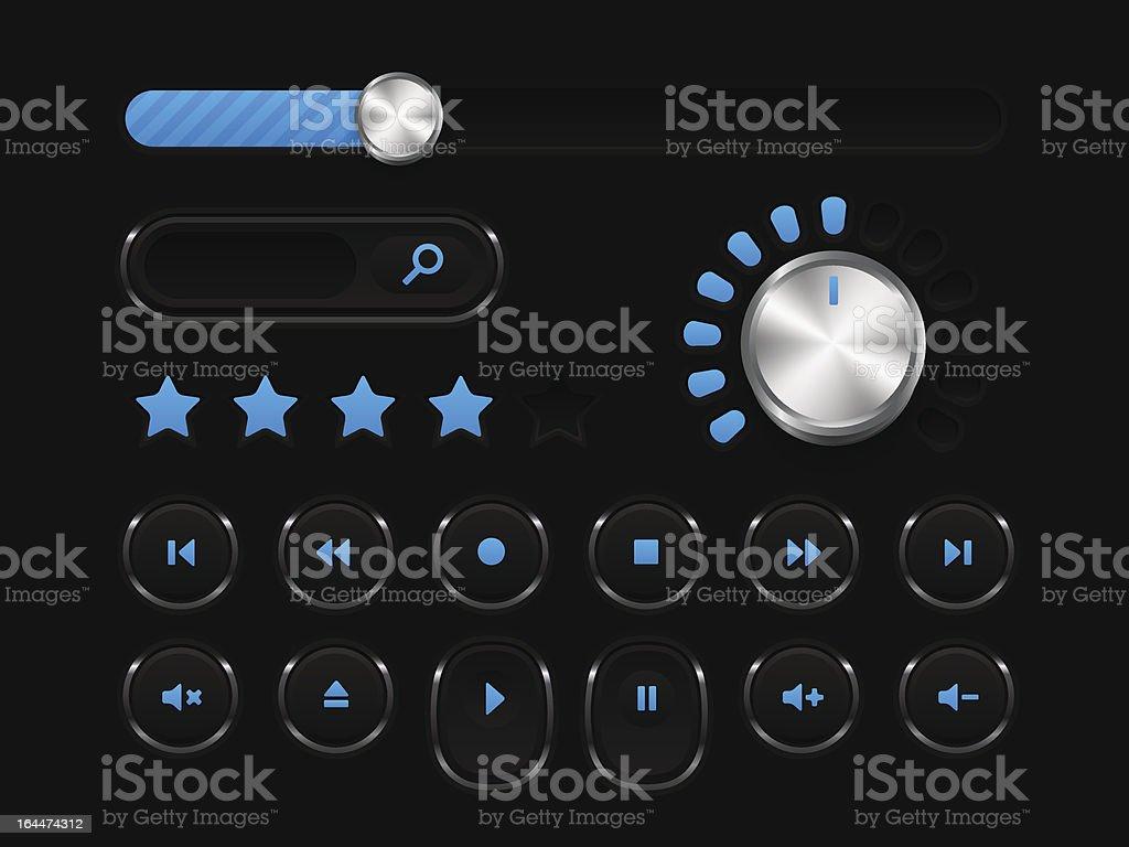 Music player kit royalty-free stock vector art