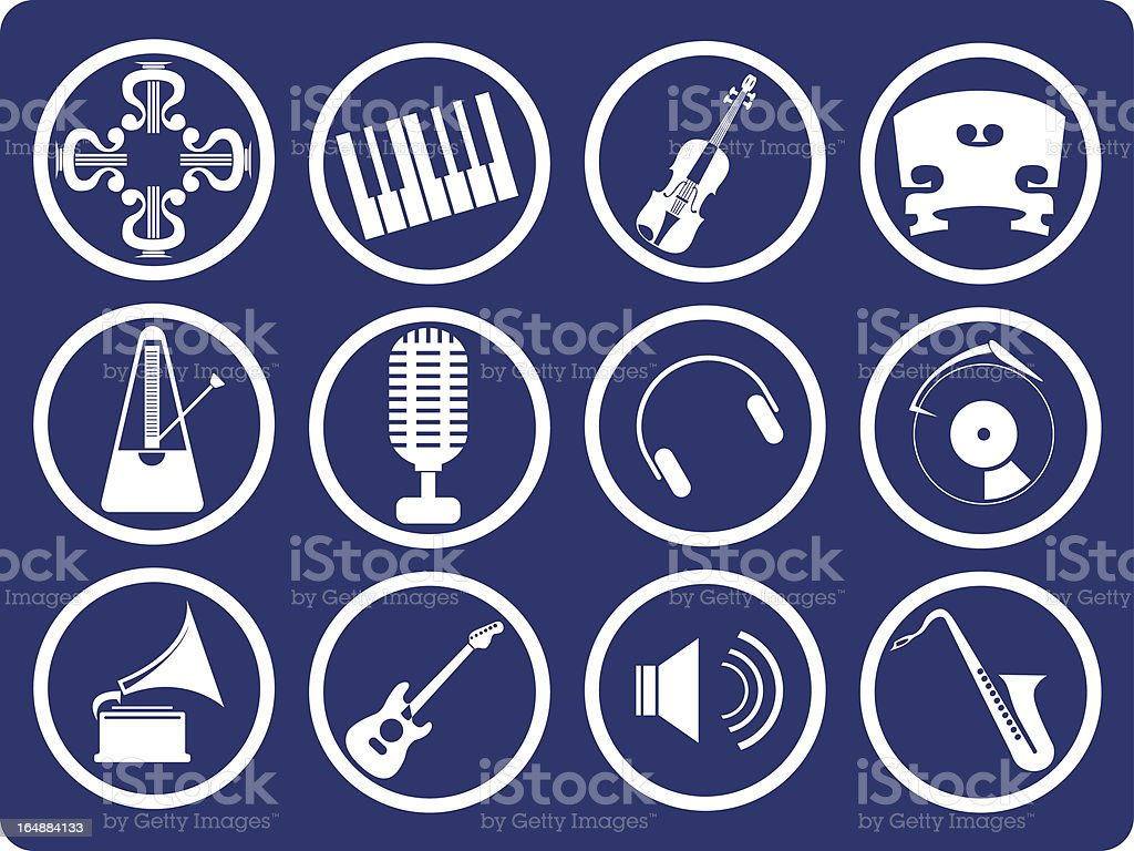Music series royalty-free stock vector art
