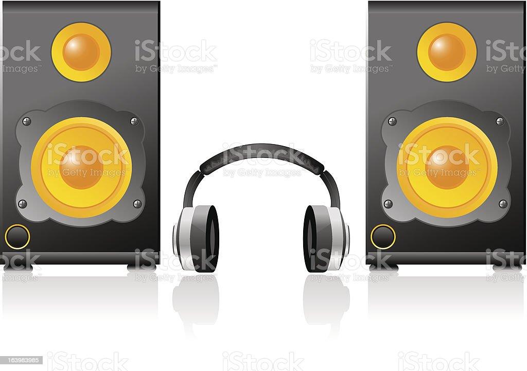 Music speaker royalty-free stock vector art