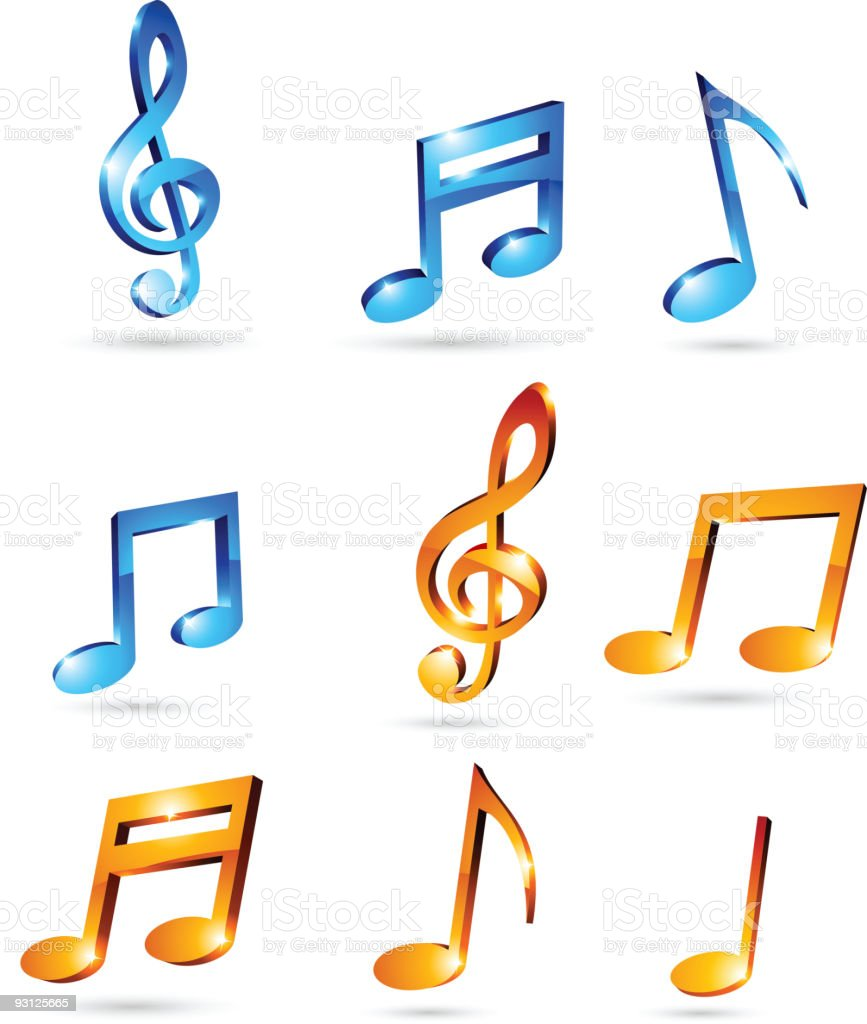 Music tones. royalty-free stock vector art
