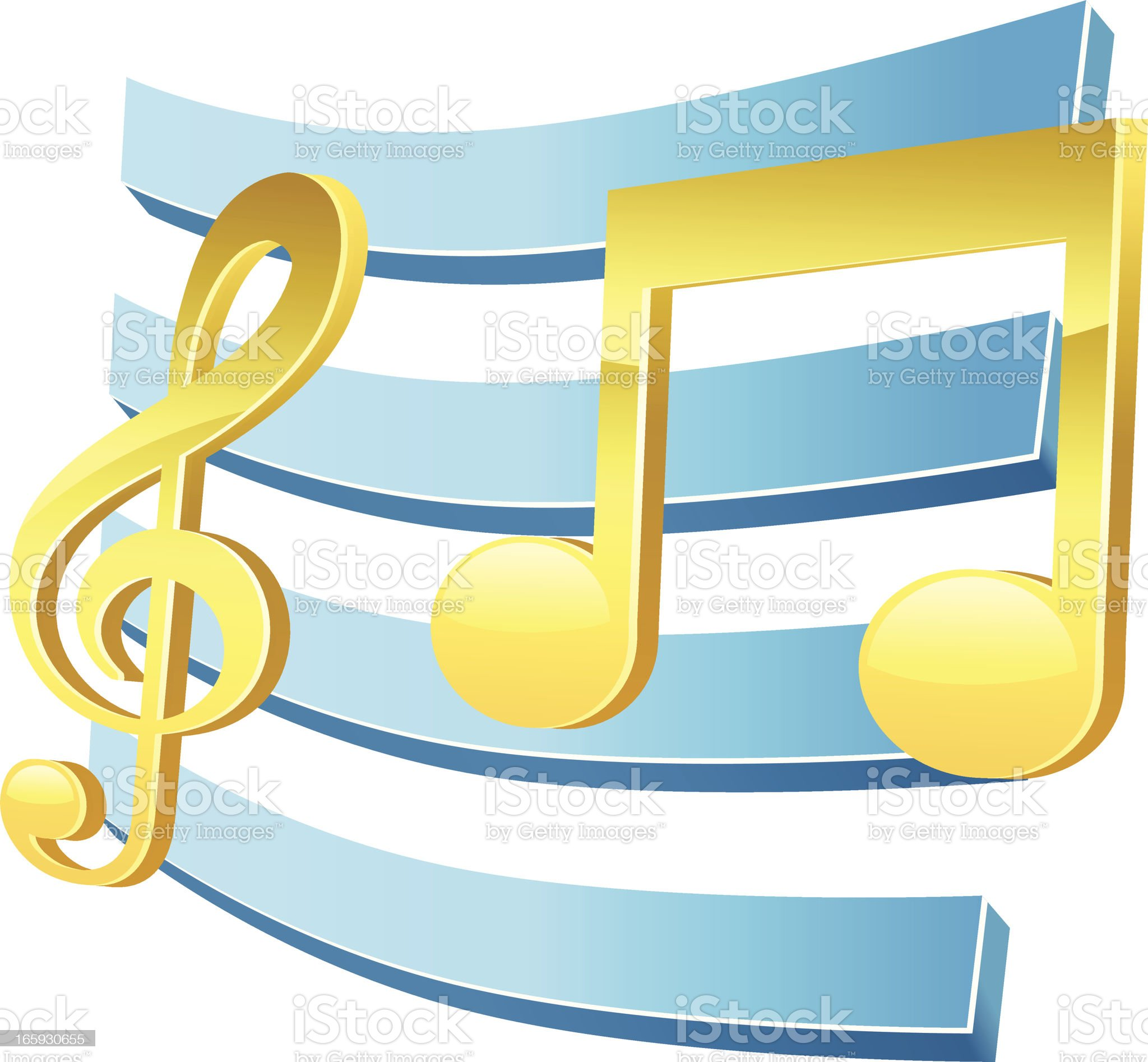 Music Track royalty-free stock vector art