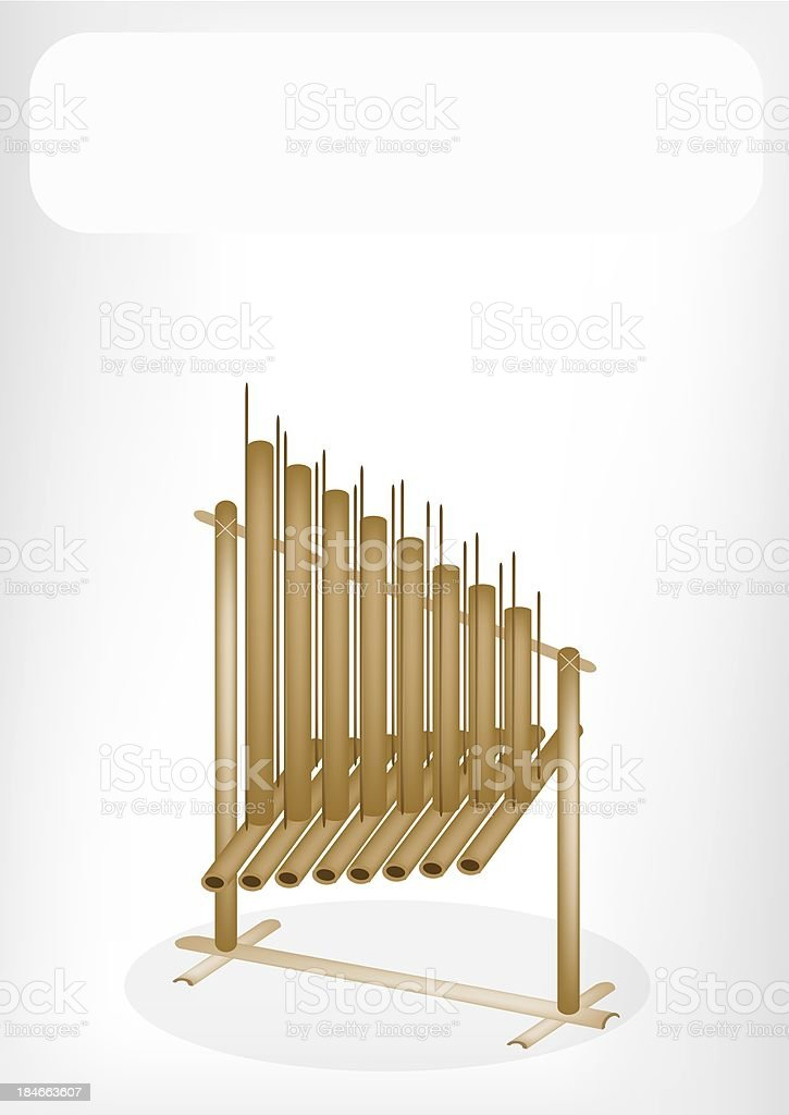 Musical Angklung with A White Banner royalty-free stock vector art