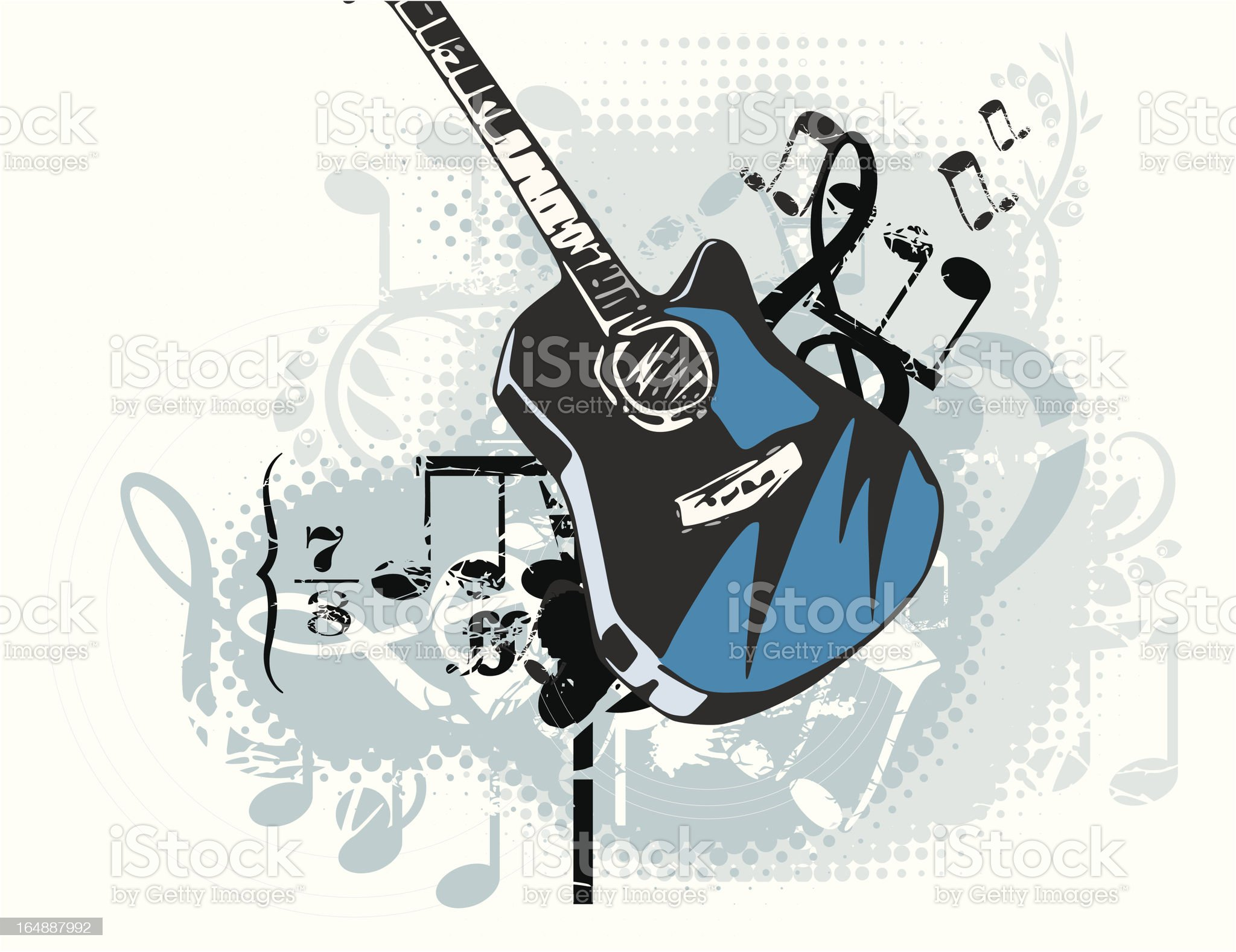 Musical Backgrounds Series royalty-free stock vector art