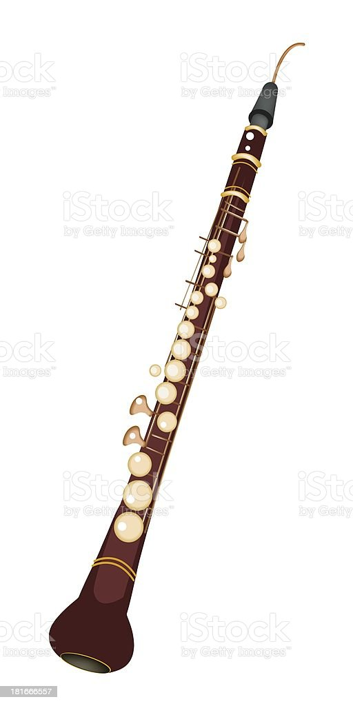 Musical Cor Anglais Isolated on White Background royalty-free stock vector art