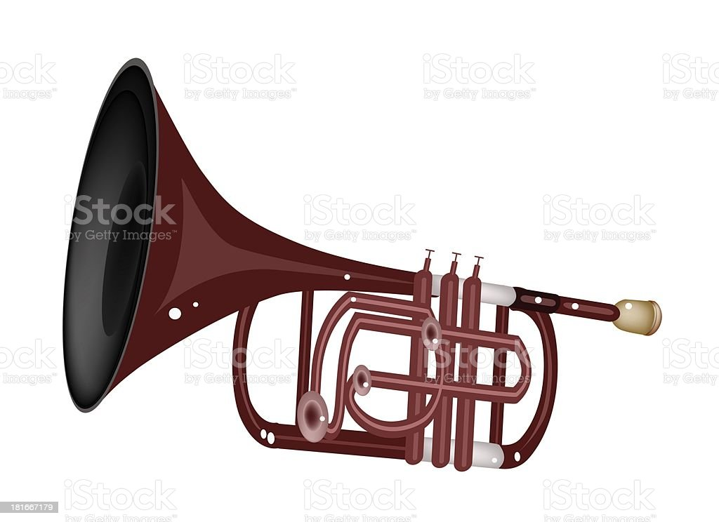 Musical Cornet Isolated on White Background royalty-free stock vector art