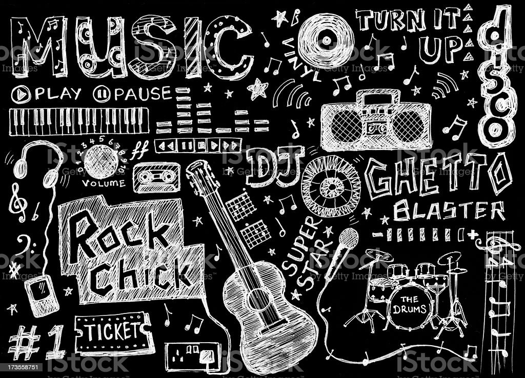 Musical doodles royalty-free stock vector art