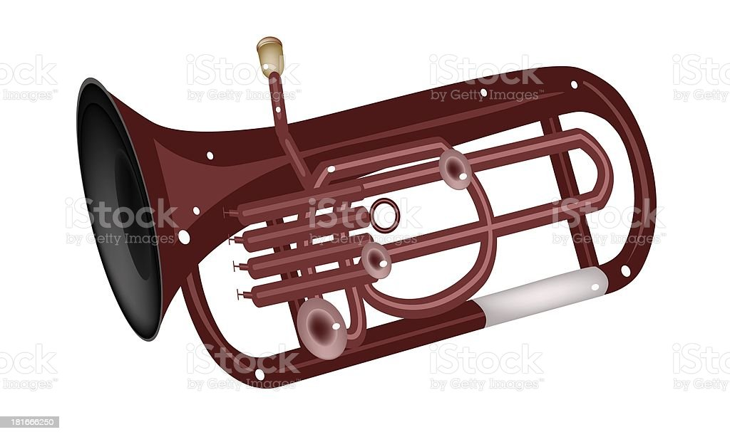 Musical Euphonium Isolated on White Background royalty-free stock vector art