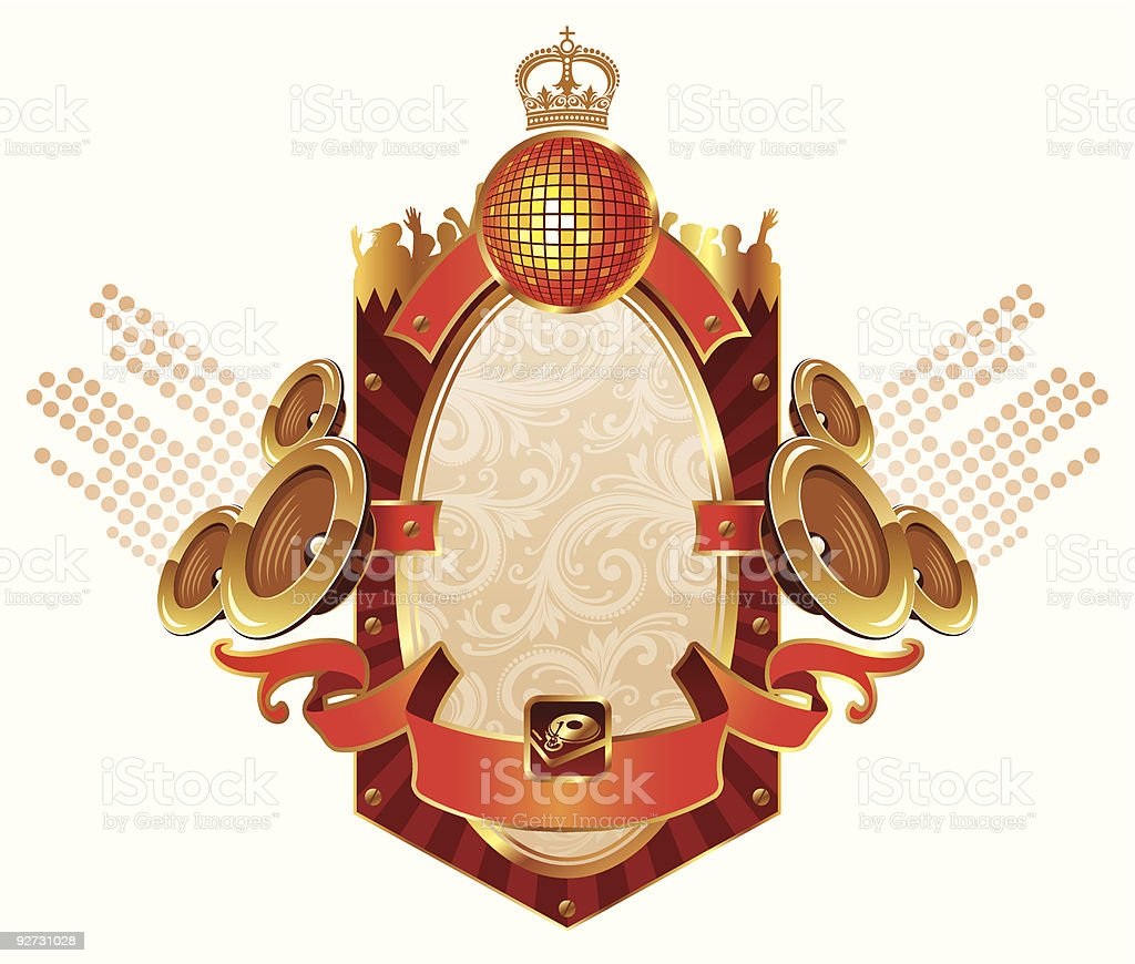 Musical heraldry royalty-free stock vector art