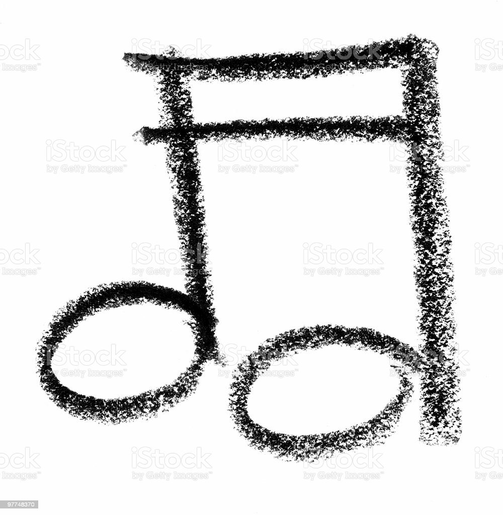 musical note sketch royalty-free stock vector art