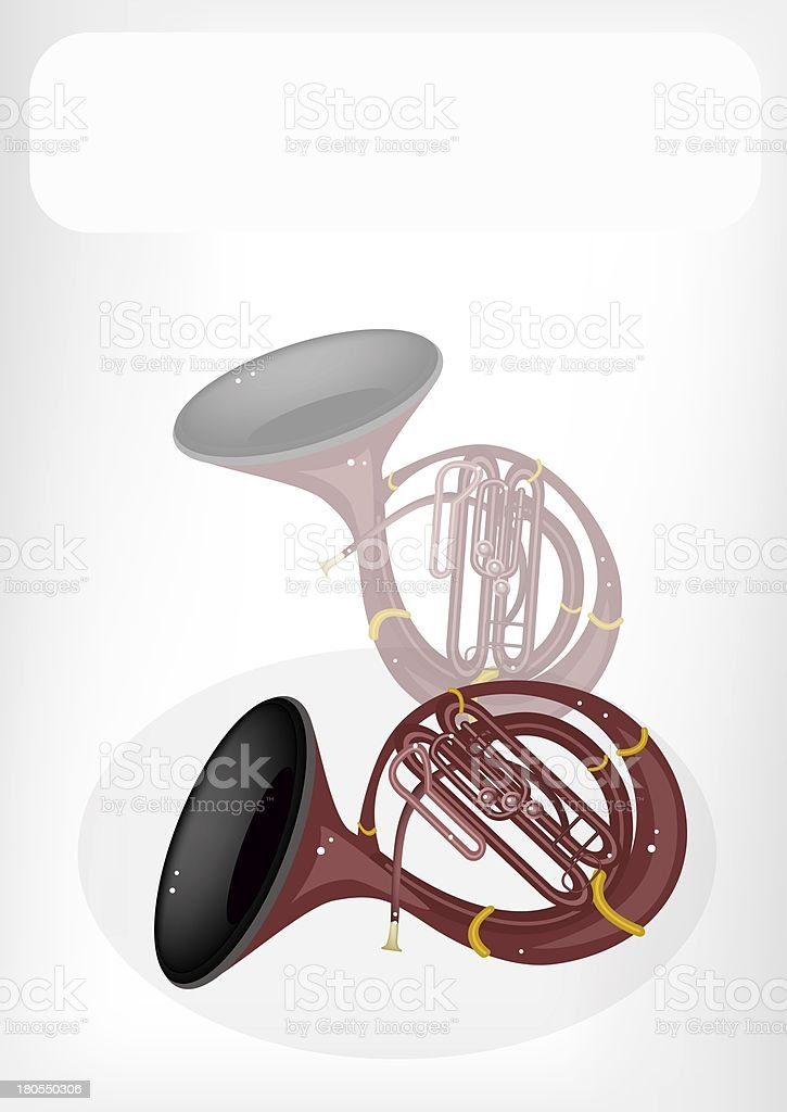 Musical Sousaphone with A White Banner royalty-free stock vector art