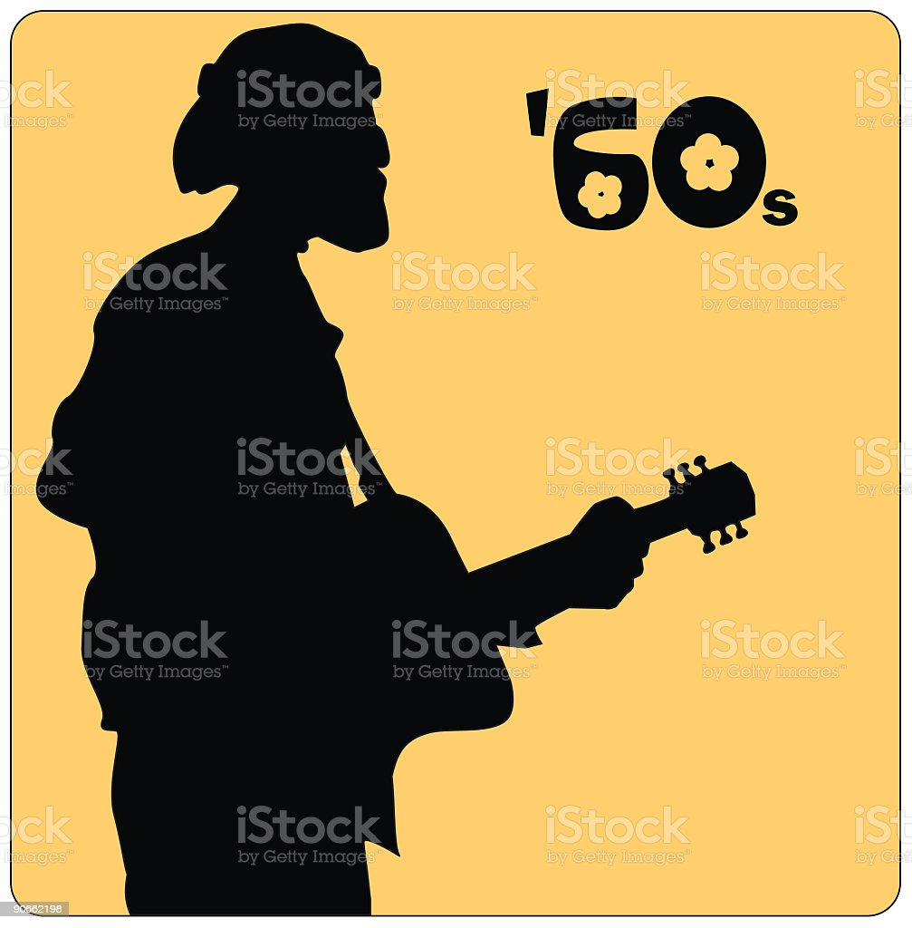 Musician from the 60s (Vector) royalty-free stock vector art