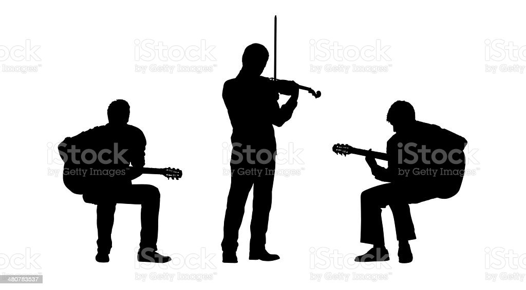 musicians silhouettes set 2 vector art illustration