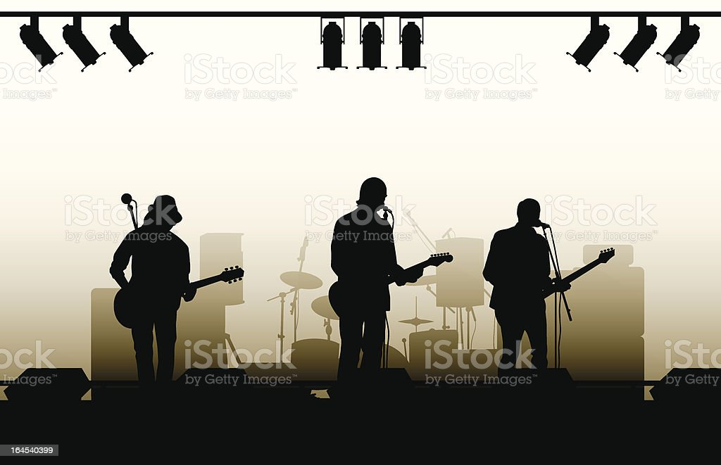 Musicians with guitars vector art illustration