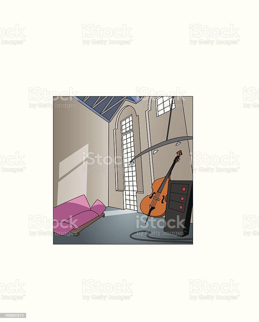 Musikerloft royalty-free stock vector art