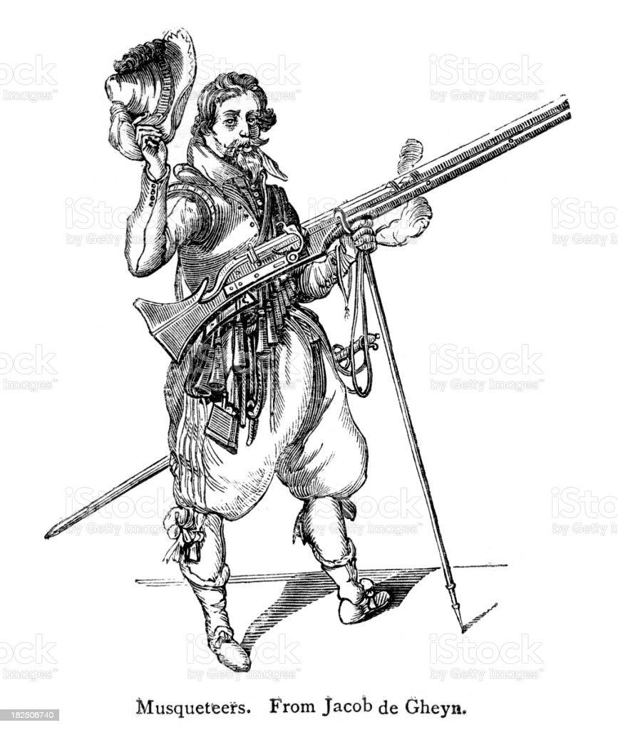 Musketeer royalty-free stock vector art