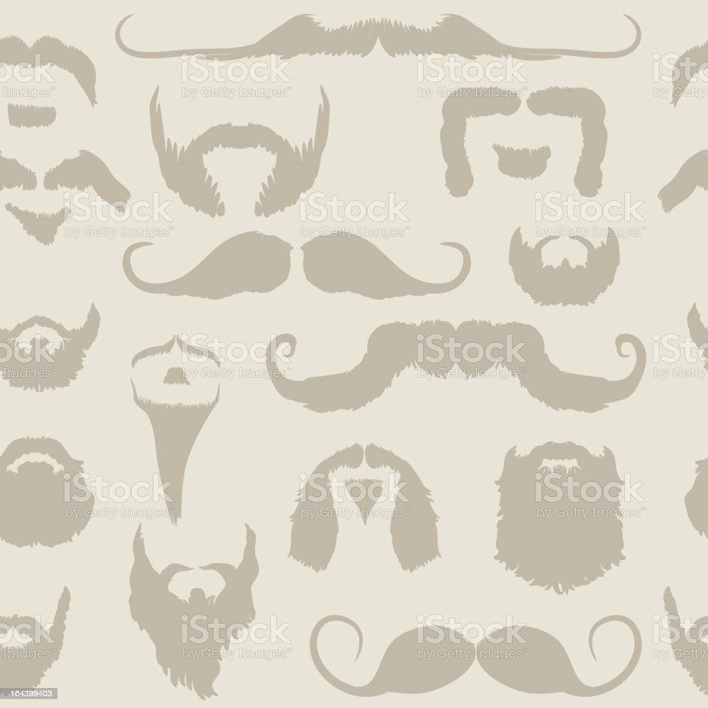 Mustache and beard seamless pattern royalty-free stock vector art