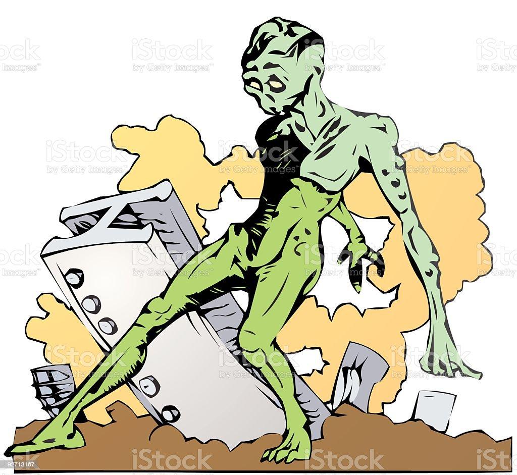 Mutant Post Apocalypse royalty-free stock vector art