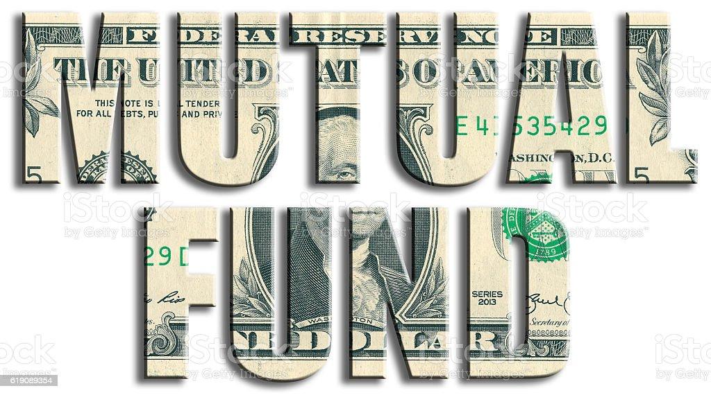 Mutual fund. US Dollar texture. vector art illustration