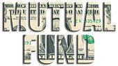 Mutual fund. US Dollar texture.