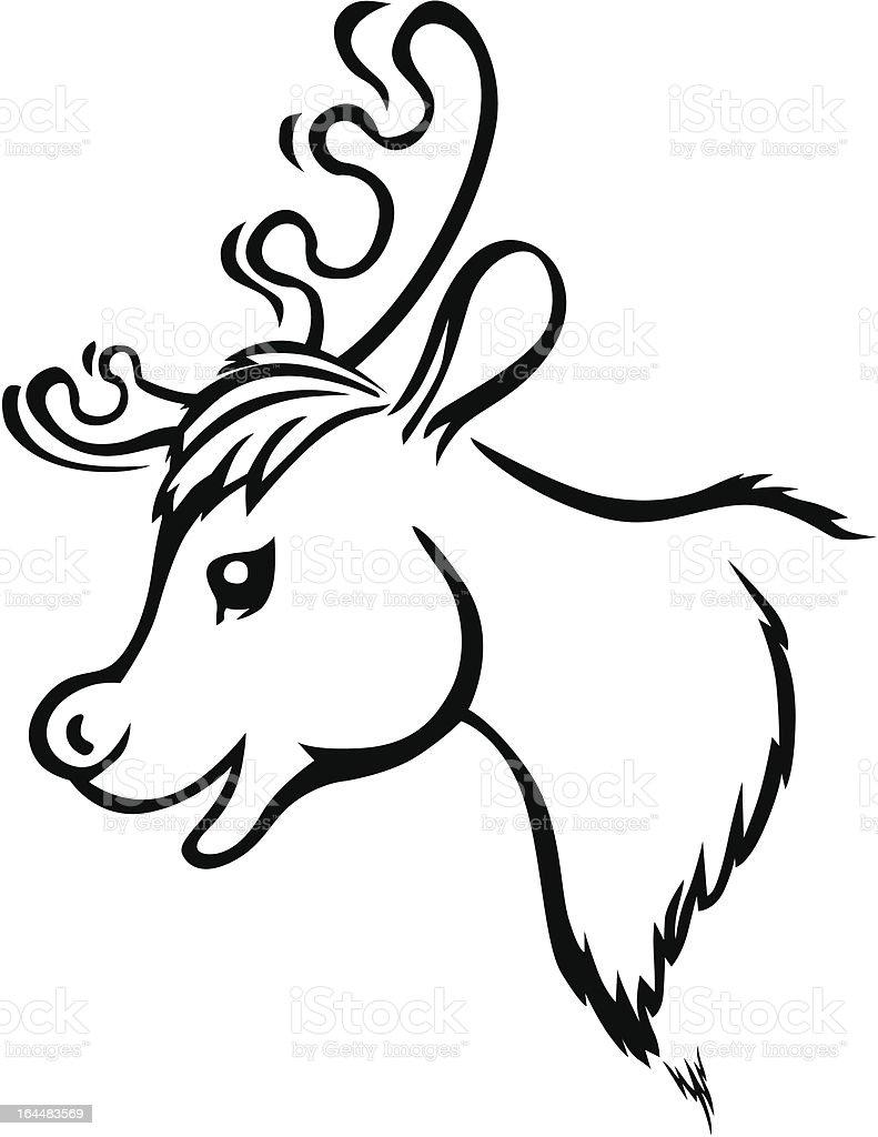 Muzzle reindeer royalty-free stock vector art
