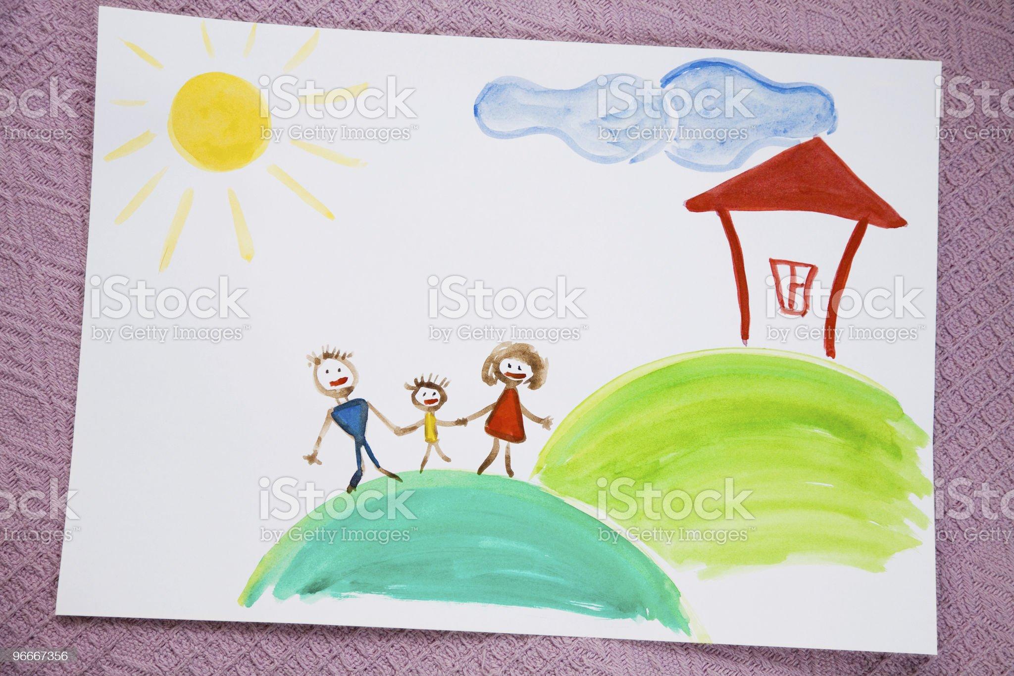 My family royalty-free stock vector art