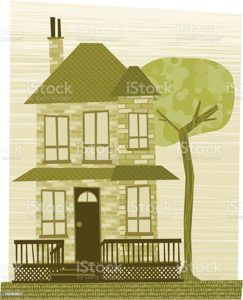 My Grandama's house royalty-free stock vector art