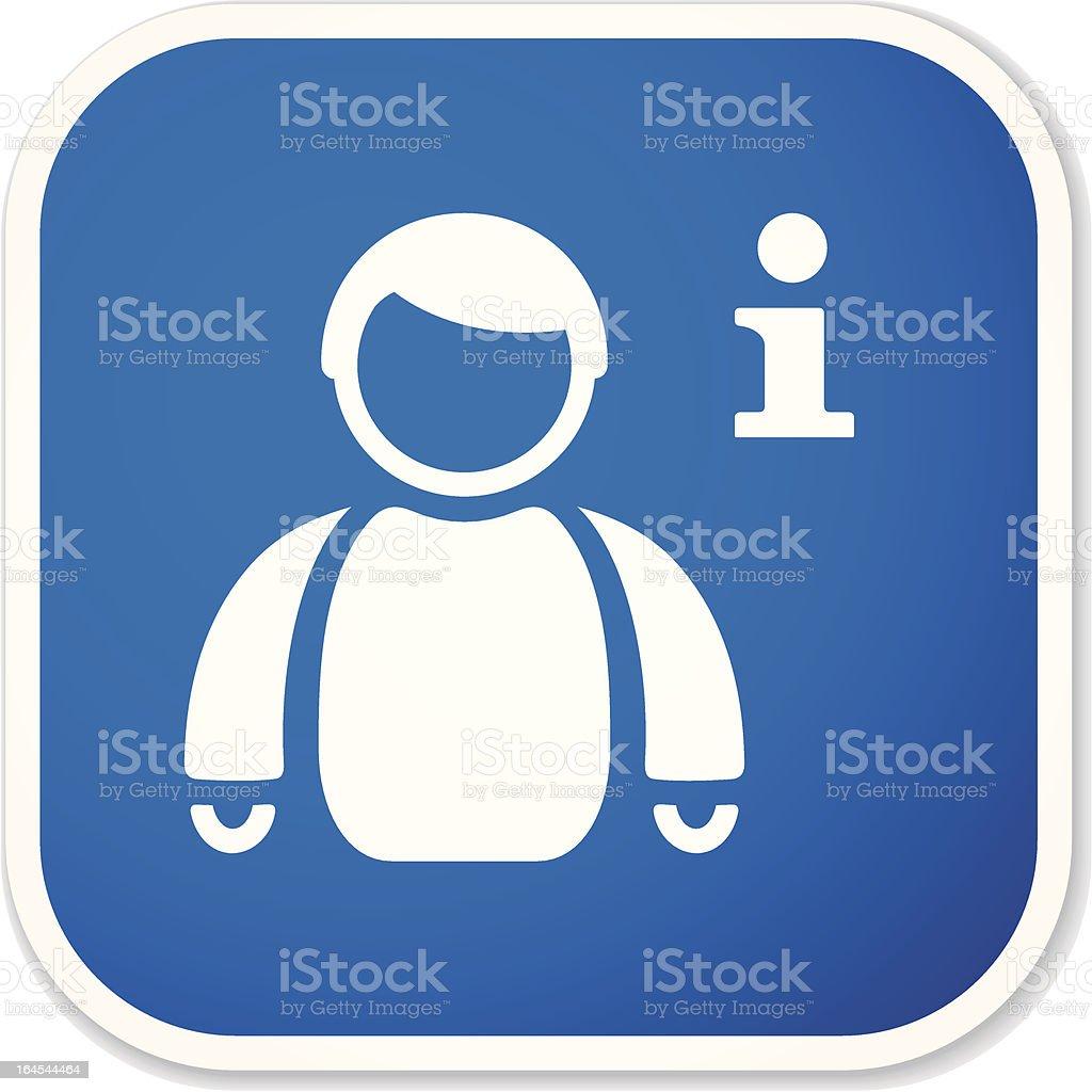 my info sq sticker royalty-free stock vector art