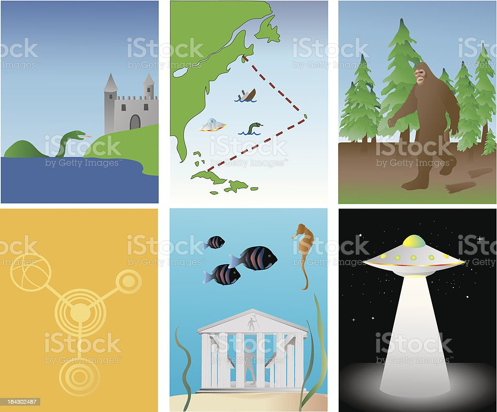 Mysteries of the world royalty-free stock vector art