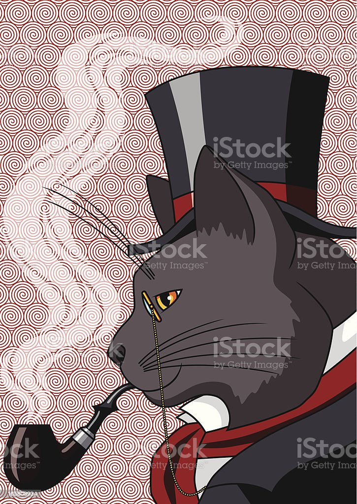 Mister Cat vector art illustration