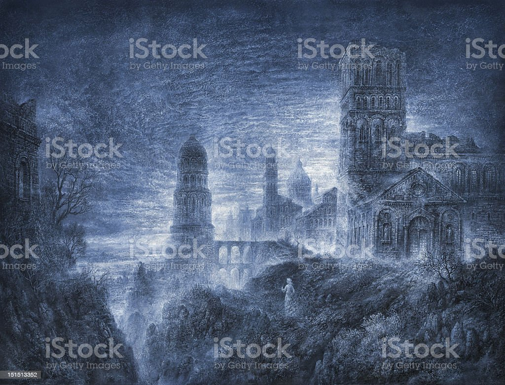 Mystic city. royalty-free stock vector art