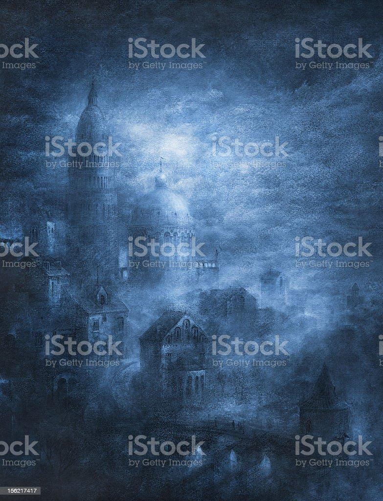 Mystic city royalty-free stock vector art