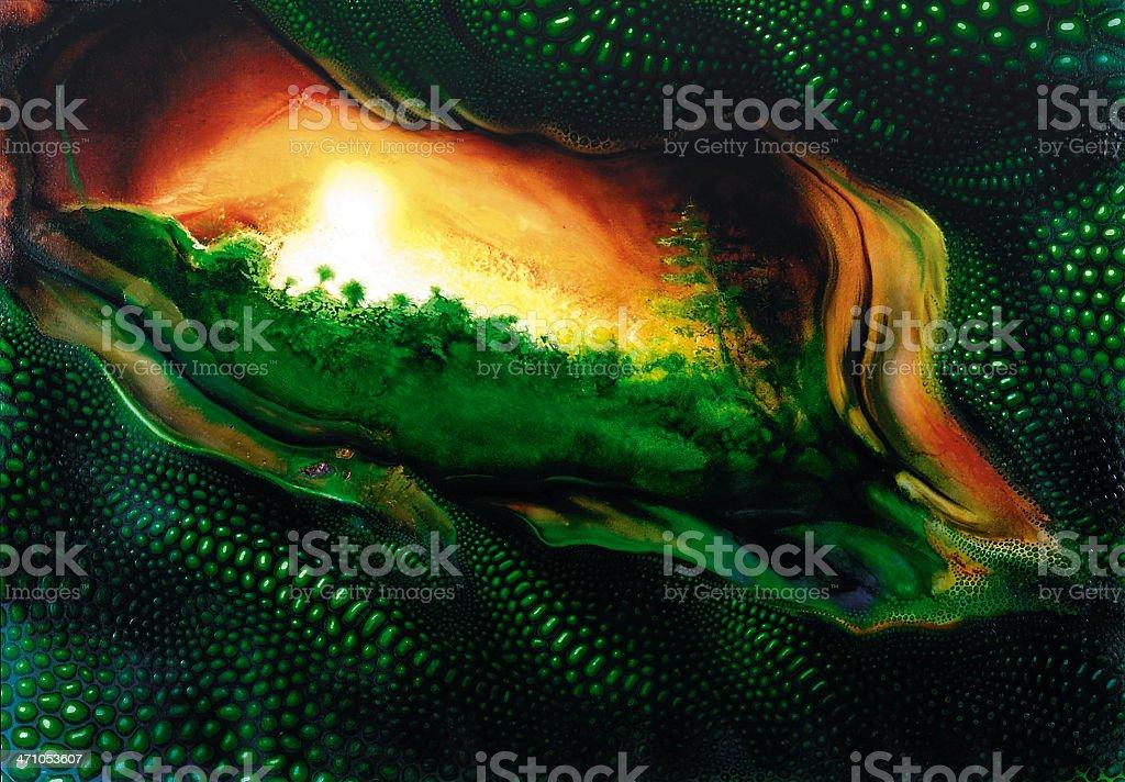 mystic reptile theme royalty-free stock vector art