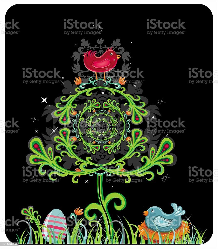 Mystic Spring card royalty-free stock vector art
