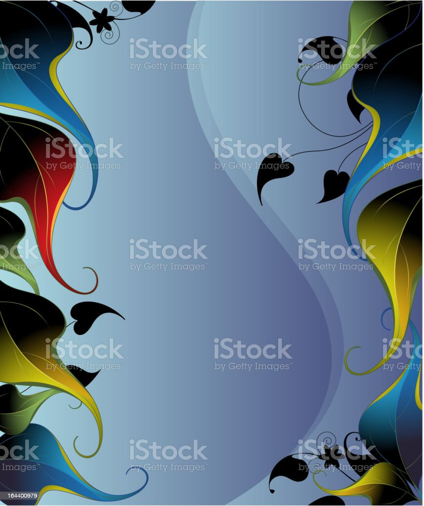 Mystical leaves background royalty-free stock vector art